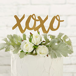 Gold XOXO Cake Topper