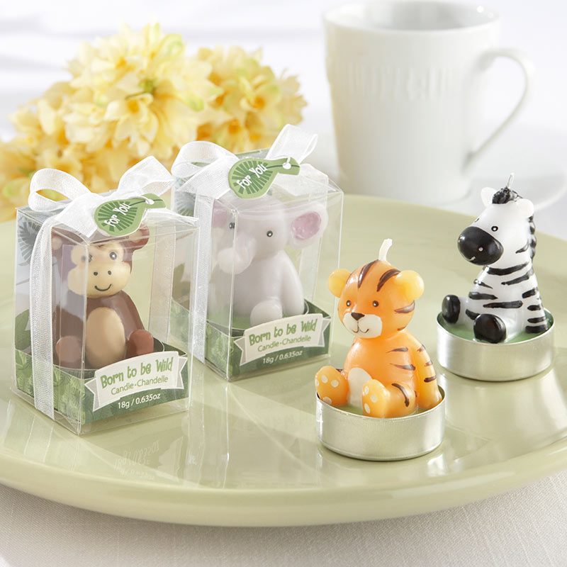 """""""Born to be Wild"""" Animal Candles - Assorted (Set of 4)"""