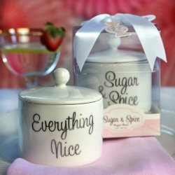 """Sugar, Spice and Everything Nice"" Ceramic Sugar Bowl"