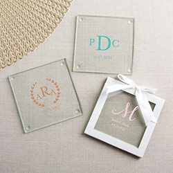 Personalized Glass Coaster - Monogram (Set of 12)