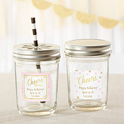 Personalized Mason Jar - Birthday For Her (Set of 12)