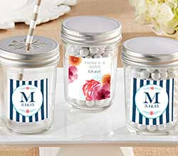 Personalized Mason Jar - Botanical (Set of 12)