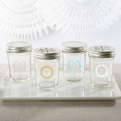 Personalized Printed 8 oz. Glass Mason Jar - Rustic Charm Wedding (Set of 12)