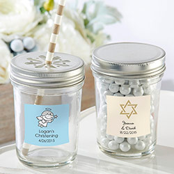 Personalized 8 oz. Glass Mason Jar - Religious (Set of 12)