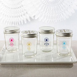 Personalized 8 oz. Glass Mason Jar - Sunflower (Set of 12)