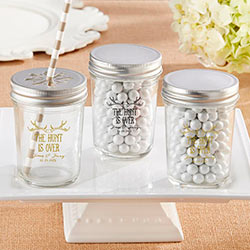 Personalized Printed Mason Jar – The Hunt Is Over (Set of 12)