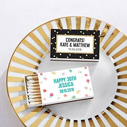 Personalized White Matchboxes - Party Time (Set of 50)