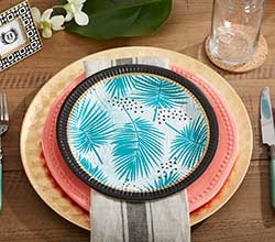 Tropical Chic Paper Plates