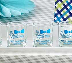 Personalized Printed 2 oz. Shot Glass/Votive Holder - My Little Man