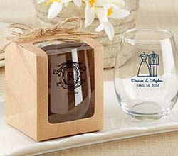 Kraft Gift Box for Stemless Wine Glass (Set of 12)