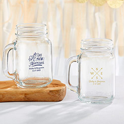 Personalized 16 oz. Mason Jar Mug - Travel & Adventure