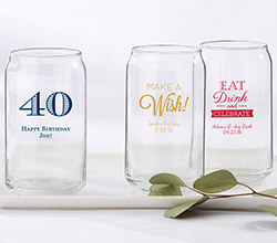 Personalized 16 oz. Can Glass - Birthday