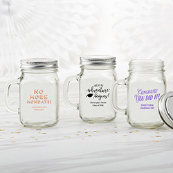 Personalized 12 oz. Mason Jar Mug - Celebration