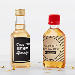 Personalized Mini Liquor Labels - Boozy Birthday