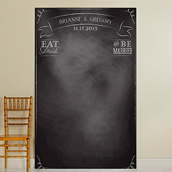 Personalized Photo Backdrop - Chalkboard Eat Drink & Be Married